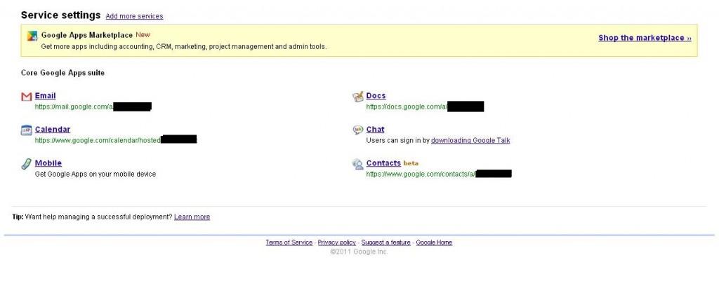 Google Apps Dashboard